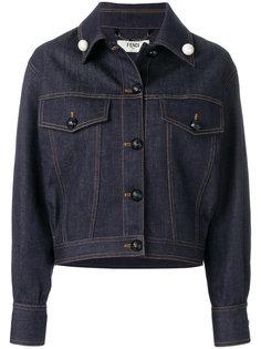 cropped denim jacket Fendi