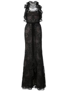 кружевное платье с оборками  Marchesa Notte