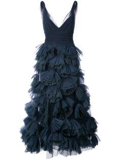 платье с оборчатой юбкой Marchesa Notte