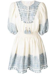 короткое платье с принтом Zimmermann