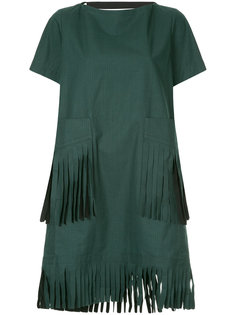 платье с бахромой Sacai