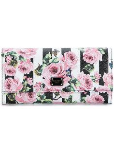 кошелек с принтом роз Dolce & Gabbana