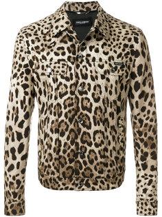 куртка с леопардовым принтом Dolce & Gabbana