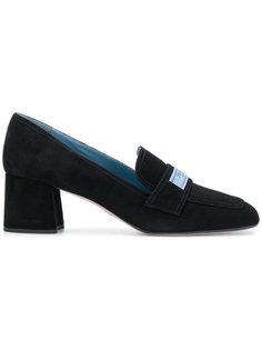 logo heeled loafers Prada