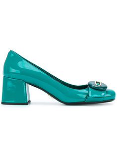 туфли-лодочки с декоративной пуговицей Prada