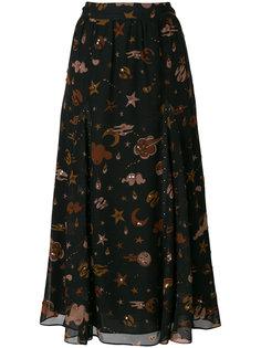 юбка с принтом Outerspace  Coach