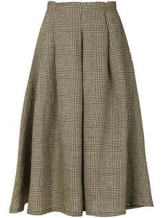 юбка миди с узором в ломаную клетку Société Anonyme