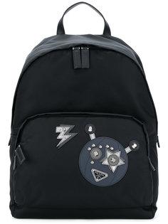 нейлоновый рюкзак с роботом Prada