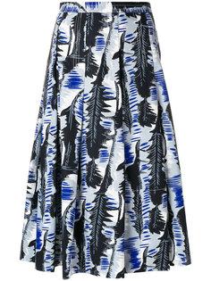 пышная юбка с лиственным принтом Marni