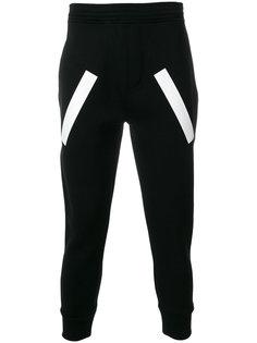 спортивные брюки с полосатыми панелями Neil Barrett