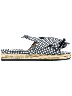 gingham knotted bow sandals Nº21