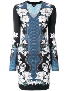 floral print fitted dress Just Cavalli