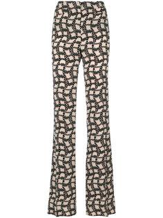 брюки с принтом и завышенной талией  Prada