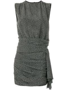 платье шифт с узором в горох Saint Laurent