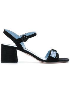 босоножки на каблуках-столбиках Prada