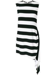 полосатое расклешенное платье  Calvin Klein