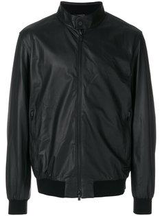 кожаная куртка-бомбер Z Zegna