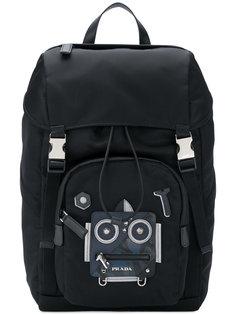 рюкзак с принтом робота Prada