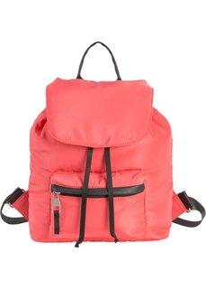 Рюкзак с накладными карманами (нежно-омаровый/черный) Bonprix