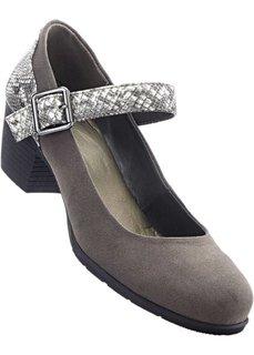 Туфли Мэри Джейн (светло-серый) Bonprix