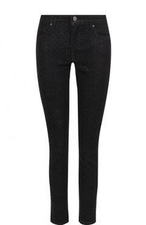 Укороченные джинсы-скинни со стразами Victoria by Victoria Beckham