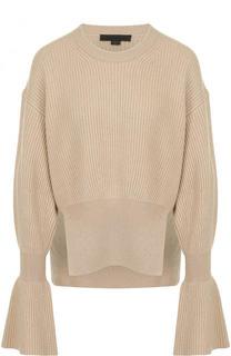 Пуловер из смеси шерсти и кашемира фактурной вязки Alexander Wang