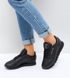 Черные кожаные кроссовки Reebok Classic - Черный