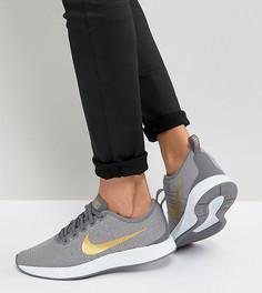 Серо-золотистые кроссовки Nike Dualtone Racer - Серый