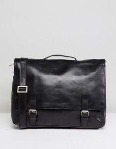 Кожаная сумка почтальона Royal RepubliQ Essential - Черный