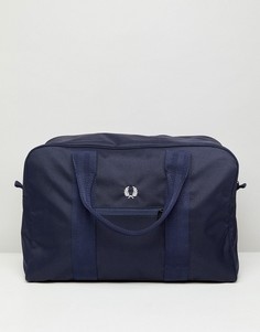 Темно-синяя саржевая сумка в клетку Fred Perry - Темно-синий
