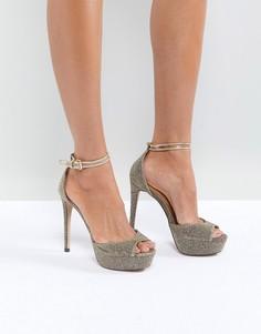 Золотистые туфли на платформе в стиле 80-х ALDO Loveasien - Золотой