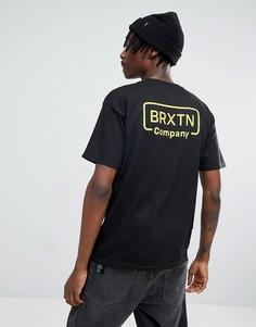 Футболка с принтом на спине Brixton Crosswhite - Черный