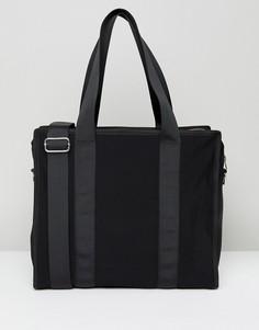 Сетчатая сумка с лентой Weekday - Черный