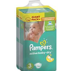 Подгузники Pampers Active Baby-Dry Midi 5-9кг 124шт 8001090459282
