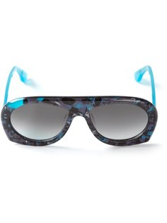 двухцветные солнцезащитные очки  Theo By Tim Van Steenbergen