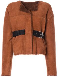 куртка из овчины с поясом Isabel Marant