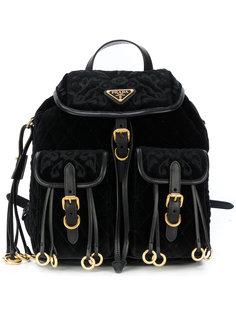 бархатный рюкзак с вышивкой Prada