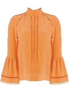 приталенная блузка с вышивкой  Fendi