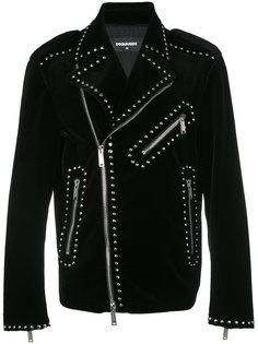 байкерская куртка с заклепками Dsquared2