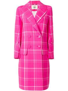 классическое пальто в клетку Fendi