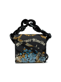 сумка с жаккардовым цветочным принтом и цепочной деталью Marquesalmeida Marquesalmeida