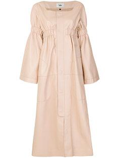 расклешенное платье на пуговицах Vejas