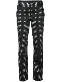 строгие брюки с кристаллами Swarovski  Moschino