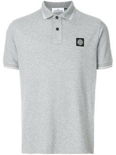 футболка-поло с контрастной окантовкой Stone Island