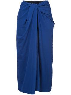 юбка с драпировкой спереди  Rosetta Getty