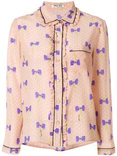 bow print shirt Miu Miu
