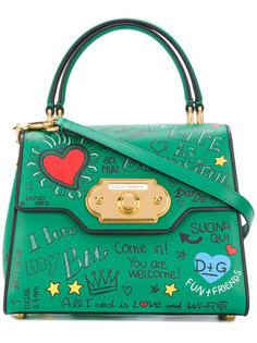 сумка-тоут с принтом граффити Dolce & Gabbana