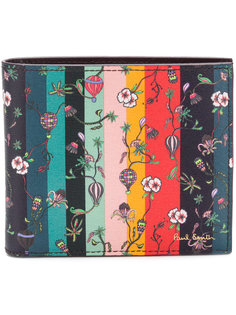 floral print striped wallet Paul Smith