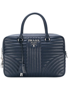 стеганая сумка-тоут с логотипом  Prada