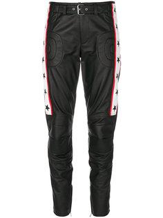 мотоциклетные кожаные брюки Moschino
